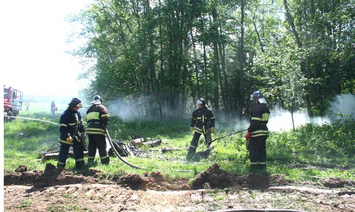 Лесные пожары учения